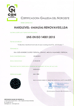 ISO 14001 Certificate
